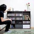 【代引き可】120cm ブックシェルフ 木製 CD収納 DVD収納 ラック ブラウン コミック収納 本棚