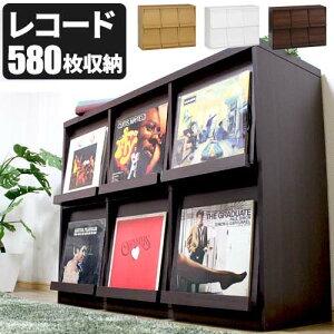 レコード ディスプレー ディスプレイ テーブル ブラウン ナチュラル ホワイト
