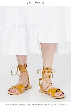 【SALE30%OFF】メリージェニー merry jenny 通販 おほしさまレースアップサンダル ぺたんこ サンダル レースアップシューズ レディース 靴 シューズ 歩きやすい カジュアル フラットサンダル 夏 星 赤 イエロー ネイビー 281831805301【thxgd_18】
