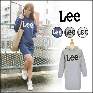 Lee リー 通販 ロゴ入りパーカーワンピース Lee LOGO PRINT L…