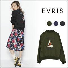 佐々木彩乃さんプロデュース!EVRIS(エヴリス)通販EVRIS(エヴリス)通販 バックガールブルゾン ...