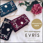 EVRIS�����ꥹ11����ͽ��3rdAnniversary(6/6S�б�)Embroidery������å�iphone������iPhone6iPhone6s���ޥۥ����������ե��󥦥���å�3��ǯ��ǰ�����ں�ǵ371651000101