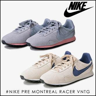 耐吉NIKE運動鞋女士婦女之前蒙特利爾速度比賽者復古鞋鞋低切平地petanko跑步跑步鞋運動馬拉松健身房瑜伽郵購(正規的物品)(828436)