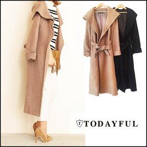TODAYFUL トゥデイフル 通販 Wool Gown Coat ウールガウンコート ロング丈 ロングコート ウー...
