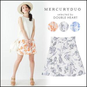 マーキュリーデュオ MERCURYDUO カラー水彩フレアミニSK (3月下旬予約) スカート…