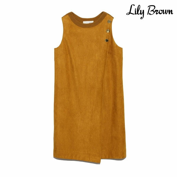 771b633550e1a  SALE50%OFF リリーブラウン Lily Brown 通販 ニットコンビスエードワンピース レディース ワンピース
