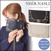サミールナスリ Embroidery Mobilecase エンブロイダリーモバイルケース ポケット フラワー