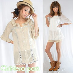 ◆2011 Early Summer Collection◆ChiMera park【キメラパーク】ピンタックカーデチュニック[15...
