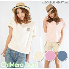 ◆2011 Early Summer Collection◆ChiMera park【キメラパーク】チュール&エンブレム使いTシャ...