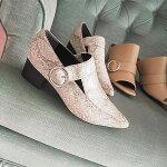 MURUAムルーア2月上旬予約サイドリングブーティーレディースブーティーシューズ靴ローヒール黒パイソン011711800601