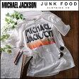 ジャンクフード JUNKFOOD マイケルジャクソンロゴTシャツ レディース メンズ Tシャツ カットソー 半袖 マイケルジャクソン MichaelJackson ヴィンテージ フェス アーティスト vintage made in USA mj006 フェス
