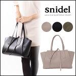 スナイデルsnidelワイドサイドトートレディースバッグレザーフェイクレザートートトートバッグ鞄シンプル軽量SWGB165603