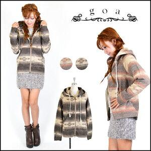 *2014 A/Wコレクション*goa レディース[goa]レディース 通販 毛布のような暖かな着心地♪ボーダ...