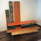 ダブルデイ/アンティーク/家具】 Munchen Folding Bench(2802-002-a) ミュンヘン フォールディング ベンチ(ダイニング/ガーデンベンチ/ビンテージ/作業台/折りたたみ/ナチュラル/ジャンク/カフェ/ドイツ)