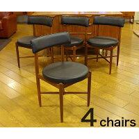 【アンティーク家具】G-PLANFRESCODINING4CHAIR1909-131ジープランフレスコダイニング4チェア