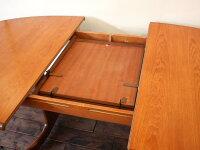 【アンティーク家具】G-PLANOVALEXTABLE(2Legs)GT-03ジープランオーバルエクステンションテーブル(2レッグス)