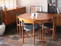 【アンティーク/家具】G-PLANROUNDEXTENSIONTABLE(2604-001)ジープランラウンドエクステンションテーブル(ダイニングテーブル/丸テーブル/円形/伸縮/伸張式/直径120/チーク)