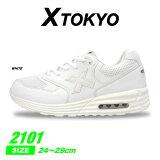 xtokyoメンズ紳士レディース婦人白スニーカーカジュアルシューズ靴メッシュ2101