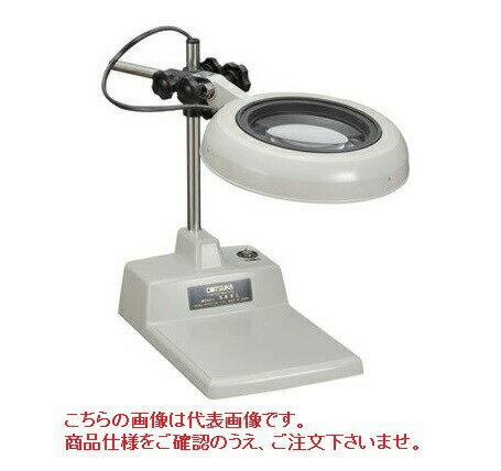 オーツカ光学 (OOTSUKA) LED照明拡大鏡・調光なし SKKL-B ラウンド12倍 (SKKL-B-12) (テーブルスタンド式)