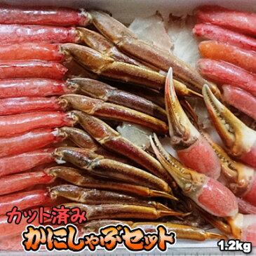 かにしゃぶセット カット済み 生 本ずわい 1.2kg 送料無料 ※沖縄送料別途加算 ズワイガニ ずわいがに 蟹しゃぶ