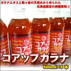 さっぱりうまい♪北海道限定の炭酸飲料!コアップガラナ500ml×5本【楽ギフ_のし】