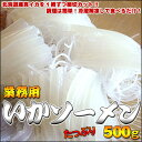北海道真イカ使用!イカ刺しに!イカソーメンに!つるつるいかそうめん500g【業務用】【楽ギフ_のし】