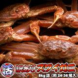 活ズワイガニ 訳あり 8kg 身入り7割前後 送料無料 ※沖縄送料別途加算 ずわいがに ずわい蟹