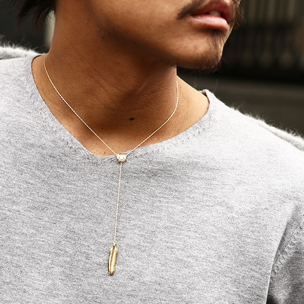 DOWBL/ ダブル/ Gold Feather Rosary Zirconia Necklace  【全1色】