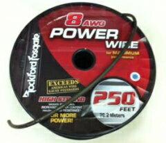 ロックフォードの電源ケーブル8ゲージ用 赤または黒1mから切り売り可能ロックフォードRFW8R8Gパ...