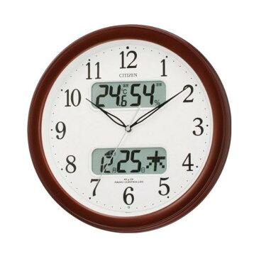 【北海道・沖縄・離島配送不可】4FYA01-006 壁掛け時計 シチズン CITIZEN 電波時計 ネムリーナカレンダーM01 シチズン時計 電波掛け時計 電波掛時計 壁掛時計 かけ時計 壁掛け電波時計 電波壁掛け時計