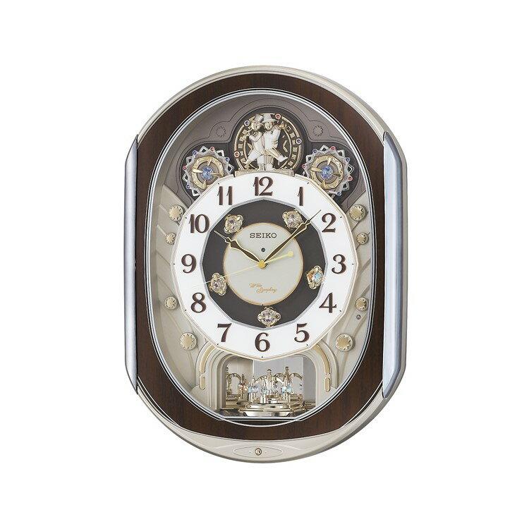 【お取り寄せ】RE578B 電波からくり時計 SEIKO セイコー スワロフスキー・クリスタル 壁掛け時計 電波時計 電波掛け時計 電波掛時計 壁掛時計 かけ時計 壁掛け電波時計