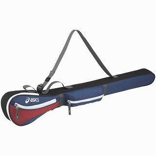 【asics アシックス[acc]】【スポーツバッグ】グランドゴルフ クラブバッグ GGG869 EQレクリエーション EQ<GROUND GOLF CLUB BAG> クラブバッグ(1本用) ネイビー×レッド 5023