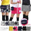 ゴルフウェア レディース ゴルフスカート 大きいサイズ ゴルフ スカート レディース インナーパンツ一体型スカート 無地 ブラック 黒 オフホワイト 白 イエロー ピンク ネイビー おしゃれ ボトム