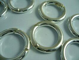 アクセサリーパーツカラビナ丸古代銀5個25mm