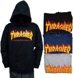 スラッシャー THRASHER 3カラー FLAME LOGOパーカー THRASHER LOGO ステッカー プレゼント! 本社アメリカから直輸入!【RCP】【コンビニ受取対応商品】