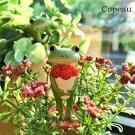 コポー赤い花束を持つカエルcopeauコポーシリーズコポタロウコポたんかえるカエル雑貨置き物オブジェフィギュア置物小物ガーデンミニチュアDRAWERPLUSドロワープラスどろわーぷらすダイカイ【71414】
