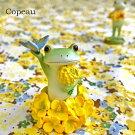 コポー菜の花とカエルcopeauコポーシリーズコポタロウコポたんかえるカエル雑貨置き物オブジェフィギュア置物小物ガーデンミニチュアDRAWERPLUSドロワープラスどろわーぷらすダイカイ【71712】
