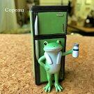 【新作】コポーレトロ冷蔵庫とカエルcopeauコポーシリーズコポタロウコポたんかえるカエル雑貨置き物オブジェフィギュア置物小物ガーデンミニチュアDRAWERPLUSドロワープラスどろわーぷらすダイカイ【72248】