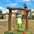【新作】コポーゆらゆらブランコcopeauコポーシリーズコポタロウコポたんかえるカエル雑貨置き物オブジェフィギュア置物小物ガーデンミニチュアDRAWERPLUSドロワープラスどろわーぷらすダイカイ【72261】