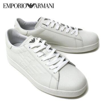 [大決算セール]【2018SS】エンポリオ・アルマーニ『EA7』 エンボスイーグル スニーカー【ホワイト】248028 CC299 00010/EMPORIO ARMANI/m-shoes