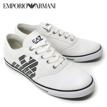 [大決算セール]【2018SS】エンポリオ・アルマーニ『EA7』 サイドイーグル キャンバススニーカー【ホワイト】248077 CC299 00010/EMPORIO ARMANI/m-shoes