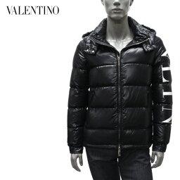 【2020-21AW】ヴァレンティノ・ガラヴァーニ VLTNロゴスリーブ ダウンジャケット【ブラック】UV0CNA316SM 0NI/Valentino Garavani/m-outer