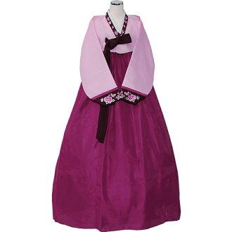韓服韓國民族服裝 M Lsaizu 細的粉紅 / 紫色 (紅色) 5003-1 10P30May15