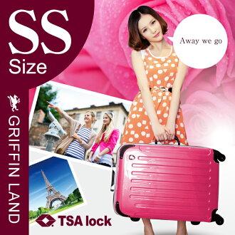 PC7000 手提箱 S/SS 粉紅色可愛 2014年模型進行案例 TSA 鎖配手提箱小型旅遊袋行李箱幀攜帶袋行李箱 GRIFINLAND 10P18Jun16