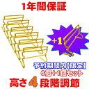 高さ4段階調節式 ミニハードル 簡単組立 6台セット キャリ...