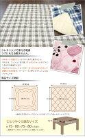こたつ布団掛け敷きセット正方形