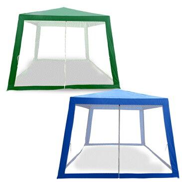 タープテント 3x3m 蚊帳付きテント 日除け メッシュ スクリーン アウトドア キャンプ レジャー