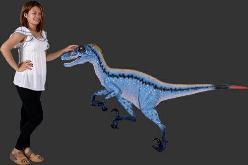 長さ198cm!ディノニクス壁掛け ウオールデコ 等身大フィギュア(恐竜等身大フィギュア):ドリームフィギュア