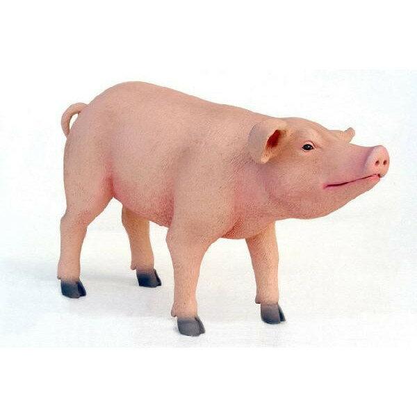 アニマルビッグフィギュアシリーズ【豚(ブタ)スタンディングC】(等身大フィギュア):ドリームフィギュア