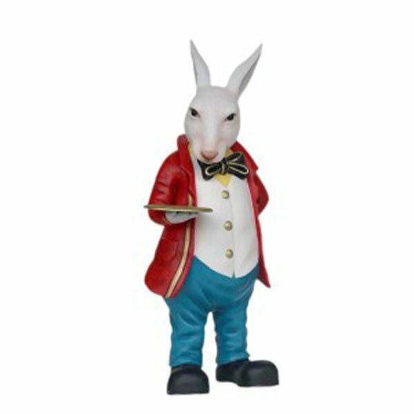 フィギュア付 メニュートレイ・ラビット(ウサギ) 等身大フィギュア:ドリームフィギュア